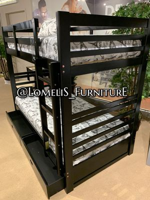 TWIN/TWIN BUNK BEDS W MATTRESSES INCLUDE D for Sale in Hesperia, CA