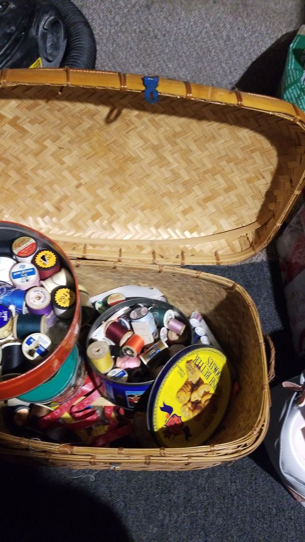 Box of needles and thread sewing items miscellaneous stuff everything you need