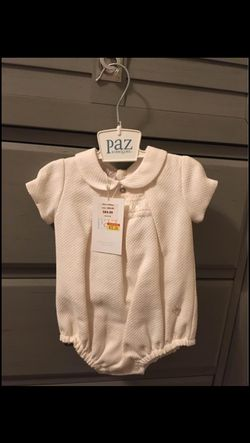 Luxury brand made in Spain - Paz Rodriguez Onesie for baby girl size 1 month - BRAND NEW WITH TAGS for Sale in Orlando,  FL