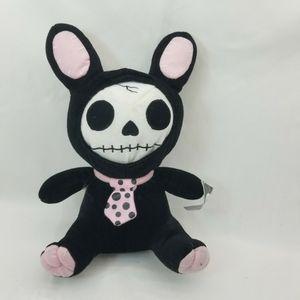 Furry Bones Skeleton Black Tuxedo Bunny With Pink Polka-dot Tie Plush Toy Doll for Sale in Las Vegas, NV