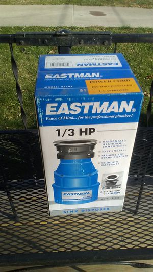 Eastman 1/3 horsepower sink disposer. Pro contractor grade! for Sale in Peoria, IL