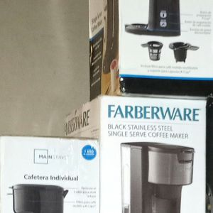 Farberware Black Stainless Steel Single Serve Coffee Maker for Sale in Norco, CA