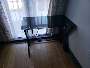 Glass top desk for Sale in Brooklyn, NY