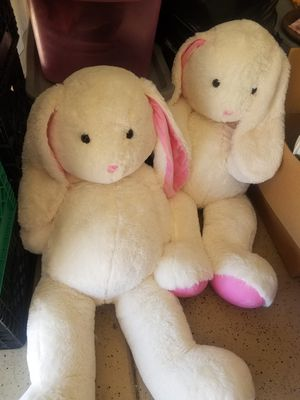 Set of 2 oversize stuffed animal bunnies for Sale in Scottsdale, AZ