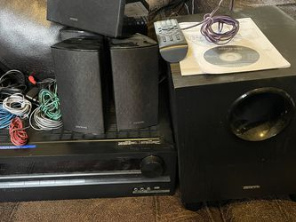 Onkyo 5.1 Receiver with speakers and subwoofer included for Sale in Selma,  AL