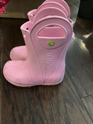 Girls crocs rain boots size 1 for Sale in Jacksonville, NC
