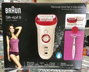 Wet & Dry Epilator Hair Remover Depilator Bikini Trimmer Depilador Braun Silk epil 9 for Sale in Miami, FL