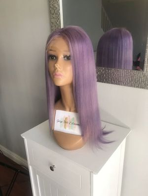 Lilac purple lace front wig Human hair for Sale in Anaheim, CA