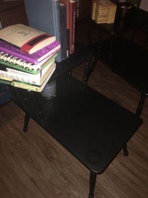 Matte jet black Vintage end/side tables. for Sale in St. Louis, MO