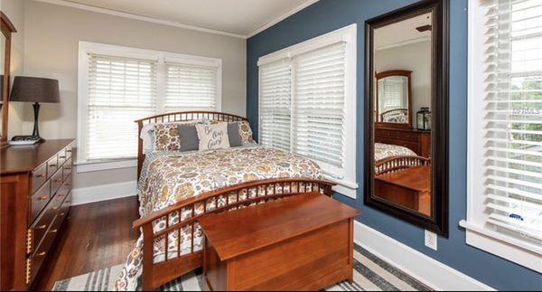 Thomasville Queen Bed + Dresser with Mirror + Desk