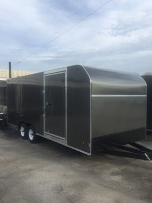 *** dark gray *** new 8.5x20x7 enclosed trailer for Sale in Rancho Cucamonga, CA