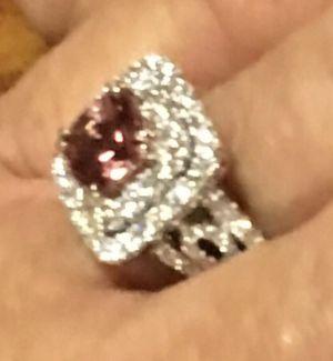 Diamond ring 18 k white gold for Sale in Poway, CA