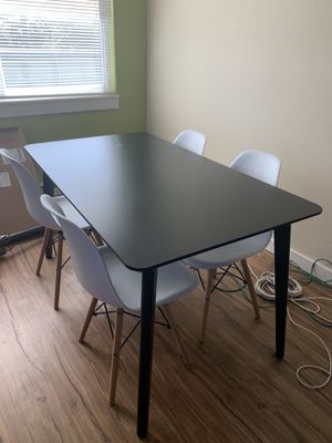 Ikea Dining Table - black Lisabo model (chairs not included) for Sale in Seattle, WA