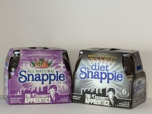 2010 Donald Trump Bret Michaels Snapple The Celebrity Apprentice collectible 6pk Glass bottles - Unopened for Sale in Casselberry, FL
