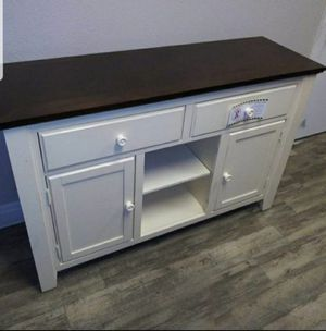 Transitional 2-tone Dining Server in Vintage White and Dark Oak Finish for Sale in Pomona, CA