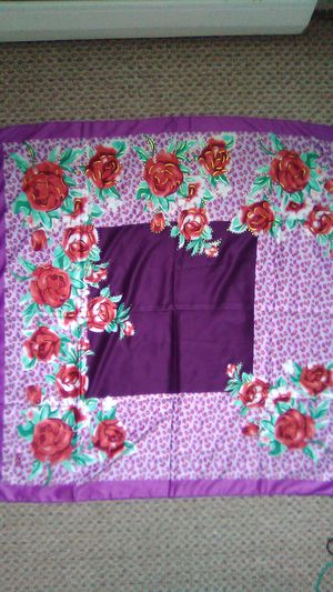 Leopard and Rose Print Scarf for Sale in Lovettsville, VA
