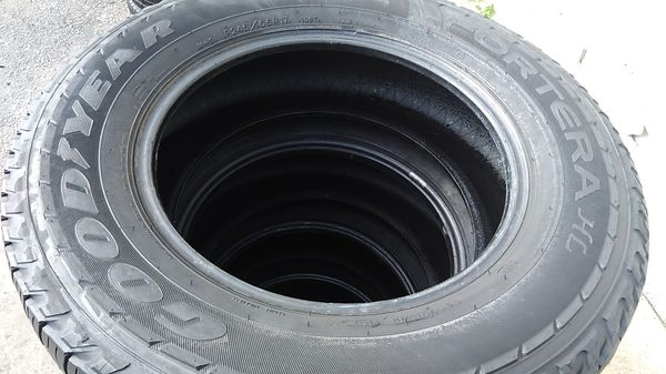 Four matching Goodyear tires for sale 245/65/17