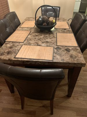 granite table with six chairs!!!!! for Sale in Montgomery, IL
