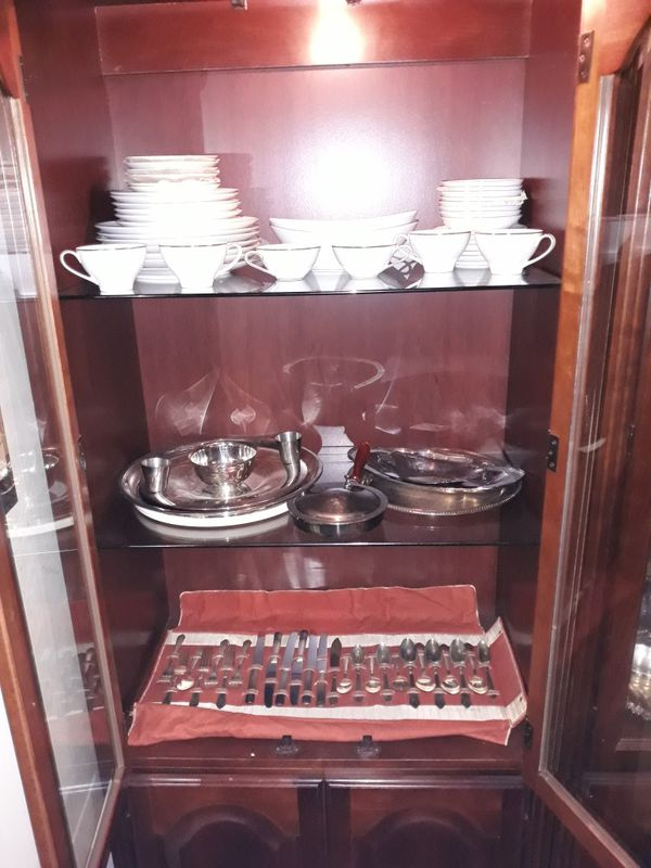 Two China cabinets