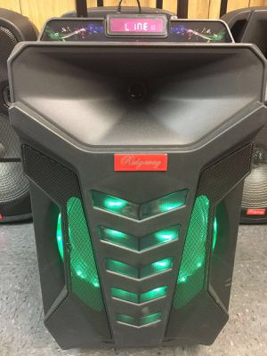 2,000 watt rechargeable Bluetooth speaker/aux/Fm/USB and SD port/microphone/karaoke/brand new for Sale in Perris, CA