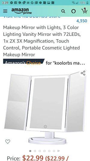 Makeup mirror with lights for Sale in Las Vegas, NV
