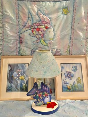 Rainbow fish nursery bedding and decore for Sale in Toms River, NJ