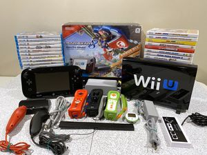 Nintendo Wii U 32GB Mario Kart 8 Deluxe Set w/ 18 Games for Sale in North Andover, MA