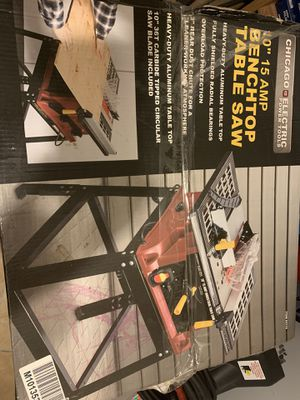 """TABLE SAW 10"""" 15 amp for Sale in Miami, FL"""