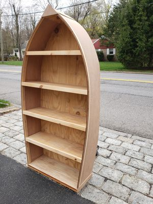 RowBoat Bookcase(New, Hand-crafted,Wood) for Sale in Briarcliff Manor, NY