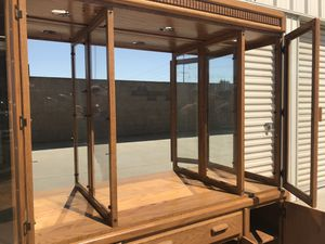Oak china hutch for Sale in Modesto, CA