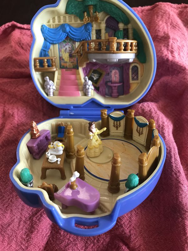 Disney Beauty and The Beast Playset Polly Pocket Blue Bird 1995 Toy Two Figures