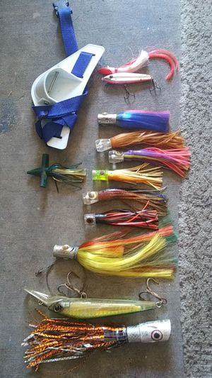 Fishing lures and belt for Sale in Boynton Beach, FL