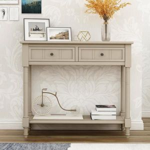 Brand New 36 in. Gray Rectangle Wood Console Table with 2-Drawers for Sale in Los Angeles, CA