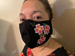 Embroided flower face mask for Sale in Peachtree Corners, GA