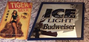 A lot of 2 Beer Advertising Signs. Price is negotiable for Sale in New York, NY