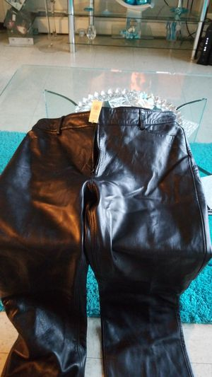 Black new soft leather banana republic pants tag on for Sale in Boston, MA