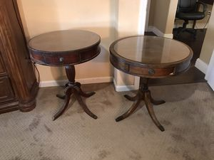 Beautiful vintage drum tables both for $150 or each for $100 for Sale in Modesto, CA