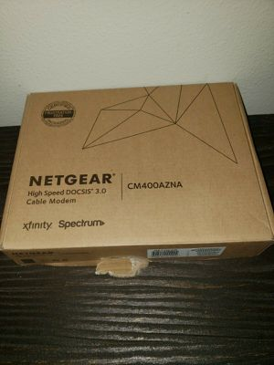 NETGEAR CM400 340Mbps 1-Port Gigabit Cable Modem Router (CM400-1AZNAS) for Sale in Portland, OR