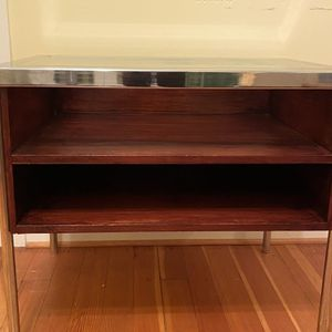 """Metal Wooden Side End Table Cabinet MCM coffee Storage Unit Console 30"""" x 21""""x 26"""" for Sale in Milwaukie, OR"""