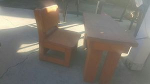 Wood Toddler Size Table and Chair for Sale in Santa Ana, CA
