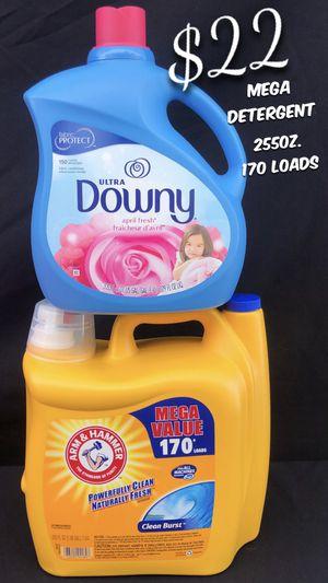 Mega Arm & Hammer Detergent 255oz. 170 Loads Downy 129oz. 150 Loads. for Sale in South Gate, CA