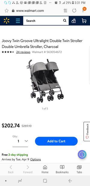Joovy TwinGroove Ultralight Double Stroller for Sale in Orlando, FL