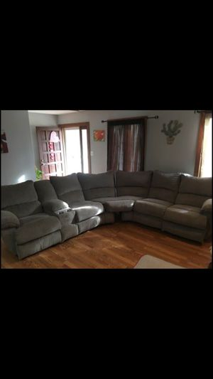 Sectional couch light gray for Sale in Trinity, NC