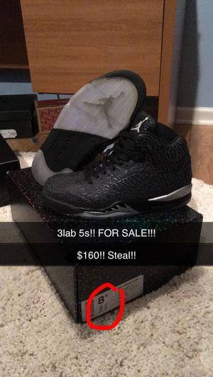 Jordan 3lab retro 5s men's size 8.5 for Sale in Lake Worth, FL