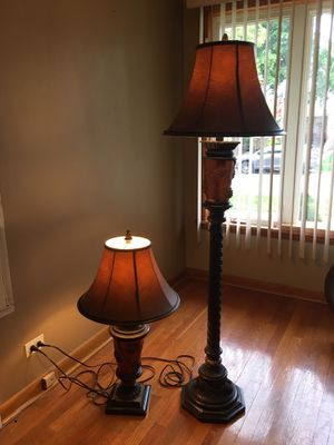 Antique pair flor lamp table lamp for Sale in Chicago, IL