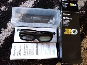 Sharp Aquos 3D Glasses --Like New--open box for Sale in Kent, WA