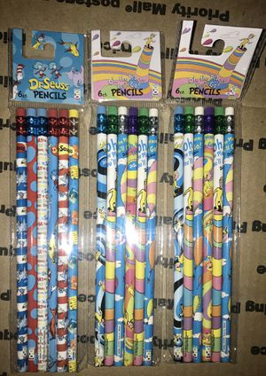 New Dr Seuss pencils for Sale in Rolling Hills Estates, CA