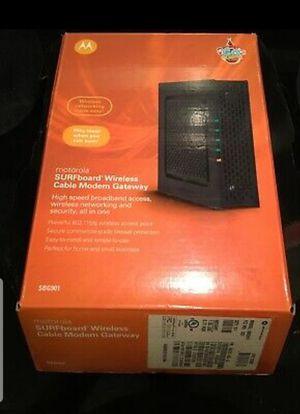 Motorola Surfboard Wireless Cable Modem Gateway for Sale in Houston, TX