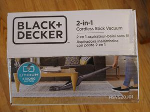 Black + Decker 2 in 1 cordless vacuum for Sale in West Chicago, IL