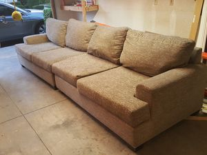 Grey/beige cloth couch -Good condition for Sale in Lake Forest, CA
